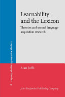 Learnability and the Lexicon