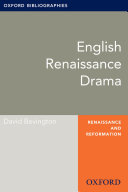 English Drama: Oxford Bibliographies Online Research Guide