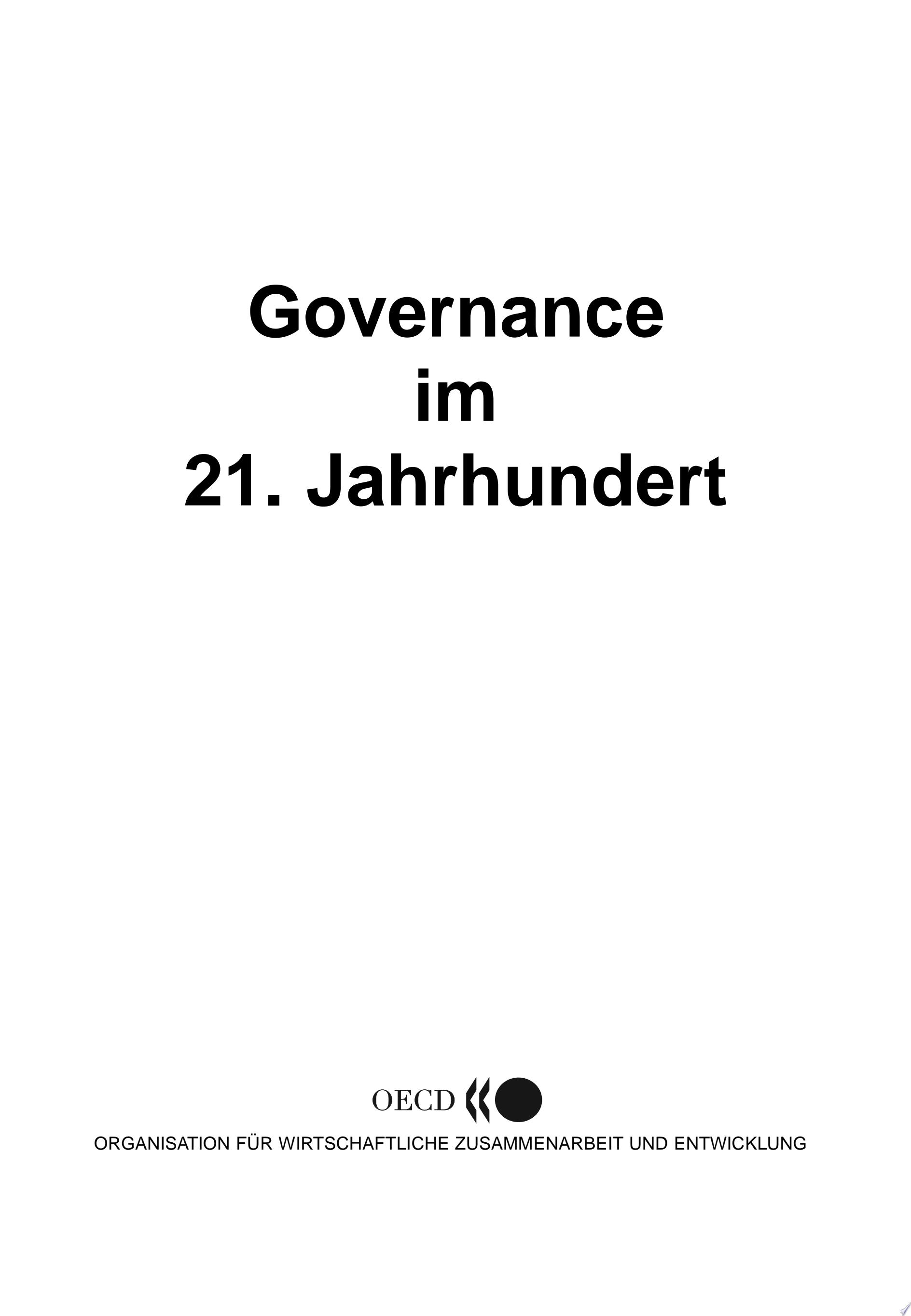 Governance im 21  Jahrhundert