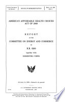 America s Affordable Health Choices Act of 2009