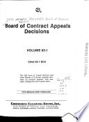 Board of Contract Appeals Decisions Book