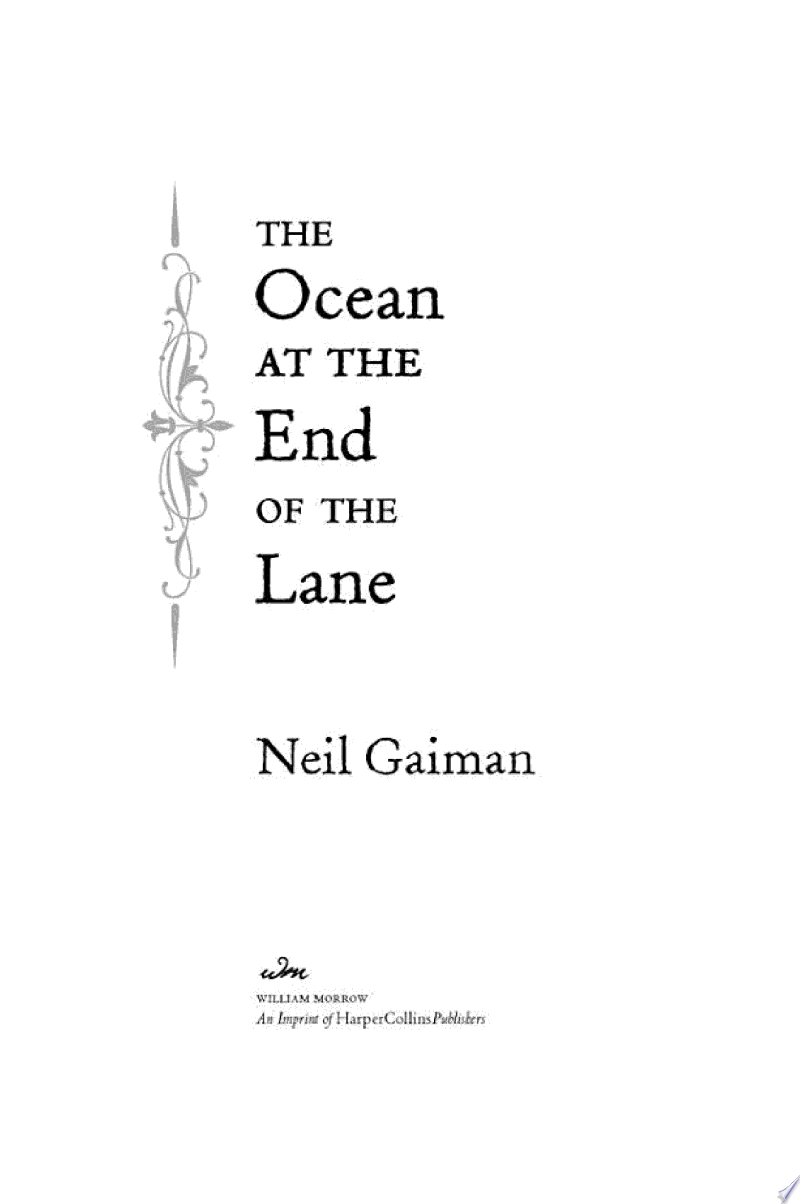 The Ocean at the End of the Lane image