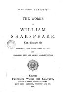 The Works of W  Shakespeare Life