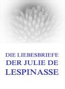 Pdf Die Liebesbriefe der Julie de Lespinasse Telecharger