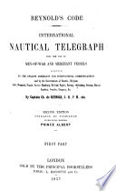 Code  International Nautical Telegraph for the Use of Men of war and Merchant Vessels  2  Ed Book