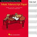 Hal Leonard Student Piano Library Music Manuscript Paper   Book PDF