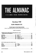 The Almanac of the Canning  Freezing  Preserving Industries Book
