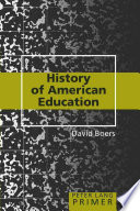 History of American Education Book