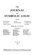 The Journal of Symbolic Logic