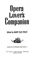 Opera Lover's Companion