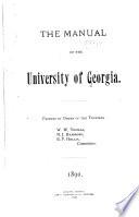 The Manual of the University of Georgia Book PDF