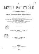 Revue bleue politique et littéraire