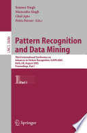 Pattern Recognition and Data Mining
