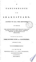 A Concordance to Shakespeare