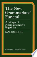 The New Grammarians' Funeral