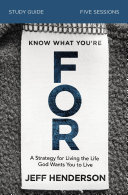 Know What You're FOR Study Guide Pdf/ePub eBook