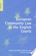 European Community Law In The English Courts