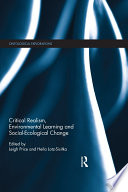 Critical Realism  Environmental Learning and Social Ecological Change