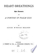 Heart-breathings, comments on a portion of Psalm cxix