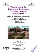 ICCSM2013 Proceedings Of The International Conference On Cloud Security Management