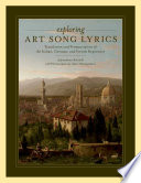 Exploring Art Song Lyrics PDF