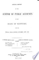Annual Report of the Auditor of Public Accounts of the State of Kentucky  for the Fiscal Year Ending