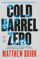 Cold Barrel Zero Book