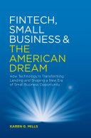 Fintech  Small Business   the American Dream