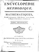 Encyclopedie Methodique ou Par Ordre de Matieres