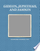 GIDEON  JEPHTHAH  AND SAMSON Book PDF