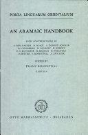Porta Linguarum Orientalium: An Aramaic Handbook, Part II/2