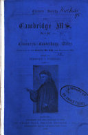 Pdf The Cambridge Ms. Dd. 4. 24. of Chaucer's Canterbury Tales