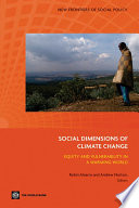 Social Dimensions of Climate Change Book