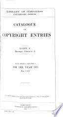 Catalogue Of Copyright Entries Book PDF