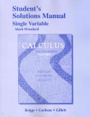 Student Solutions Manual, Single Variable for Calculus