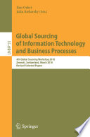 Global Sourcing Of Information Technology And Business Processes Book PDF
