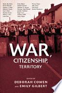 War  Citizenship  Territory Book