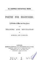 Poetry for beginners  a selection of short and easy poems Book