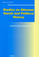 Studies on Ottoman Social and Political History