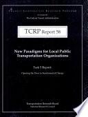 New Paradigms For Local Public Transportation Organizations Book PDF