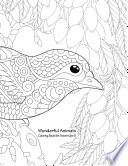 Wonderful Animals Coloring Book for Grown-Ups 5