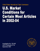 Pdf U.S. Market Conditions for Certain Wool Articles in 2002-2004, Inv. 332-449