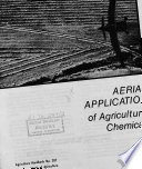 Aerial Application of Agricultural Chemicals Book