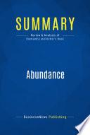 Summary  Abundance