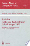 Reliable Software Technologies Ada Europe 2000 Book PDF