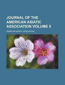 Journal Of The American Asiatic Association