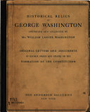 Historical Relics of George Washington Inherited and Collected by Mr  William Lanier Washington