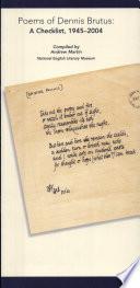 Poems of Dennis Brutus