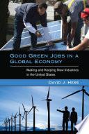 Good Green Jobs in a Global Economy Pdf/ePub eBook