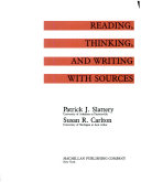 Reading, Thinking, and Writing with Sources